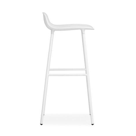Normann Copenhagen Form Barstuhl 75cm Steel/White