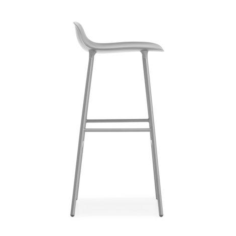 Normann Copenhagen Form Barstuhl 75cm Steel/Grey