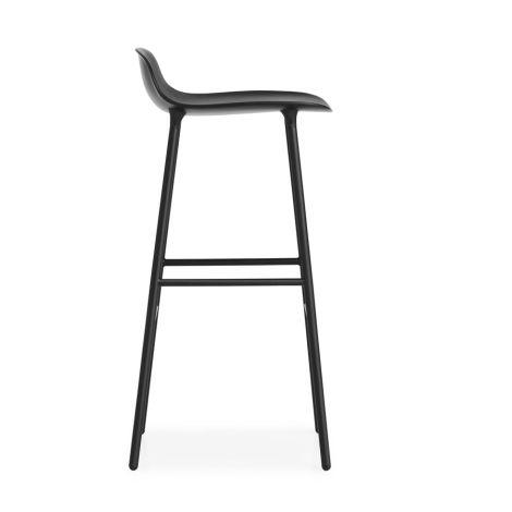 Normann Copenhagen Form Barstuhl 75cm Steel/Black