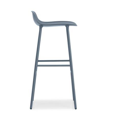 Normann Copenhagen Form Barstuhl 75cm Steel/Blue