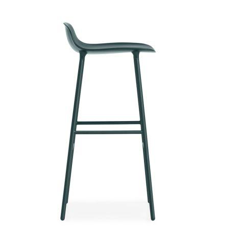 Normann Copenhagen Form Barstuhl 75cm Steel/Green