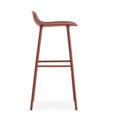 Normann Copenhagen Form Barstuhl 75cm Steel/Red