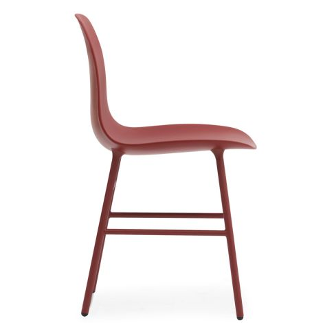 Normann Copenhagen Form Stuhl Steel/Red