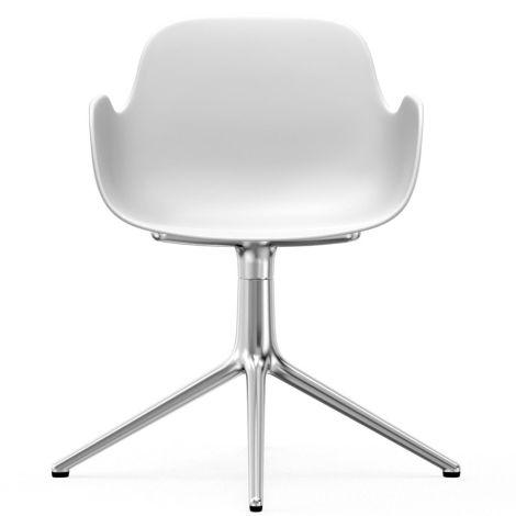 Normann Copenhagen Form Bürostuhl/Drehstuhl mit Armlehne Swivel White/Aluminium