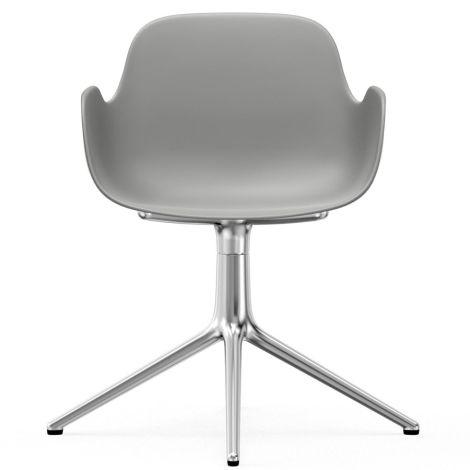 Normann Copenhagen Form Bürostuhl/Drehstuhl mit Armlehne Swivel Grey/Aluminium