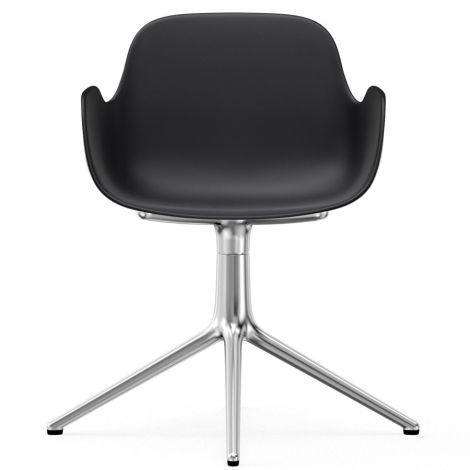Normann Copenhagen Form Bürostuhl/Drehstuhl mit Armlehne Swivel Black/Aluminium