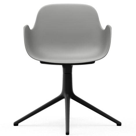 Normann Copenhagen Form Bürostuhl/Drehstuhl mit Armlehne Swivel Grey/Black