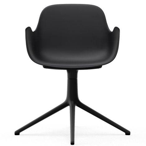 Normann Copenhagen Form Bürostuhl/Drehstuhl mit Armlehne Swivel Black/Black