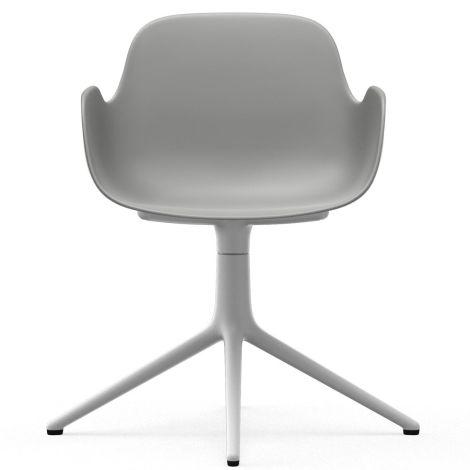 Normann Copenhagen Form Bürostuhl/Drehstuhl mit Armlehne Swivel Grey/White