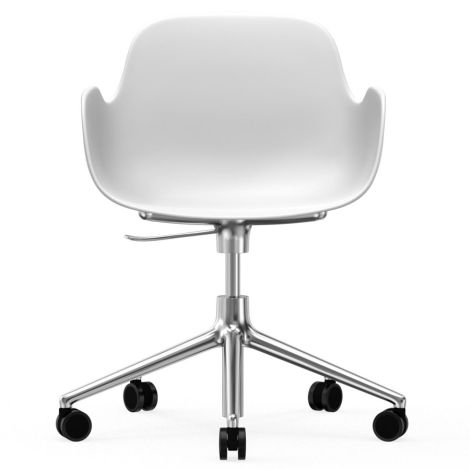 Normann Copenhagen Form Bürostuhl/Drehstuhl mit Rollen Swivel White/Aluminium