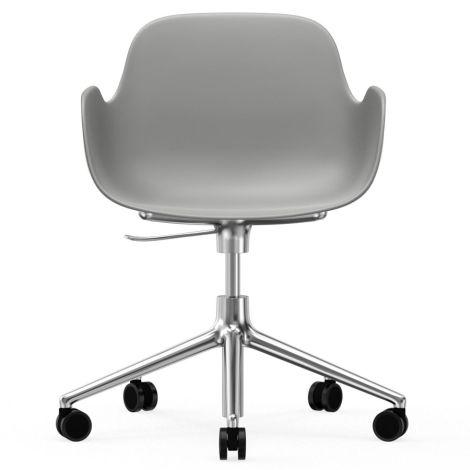 Normann Copenhagen Form Bürostuhl/Drehstuhl mit Rollen Swivel Grey/Aluminium