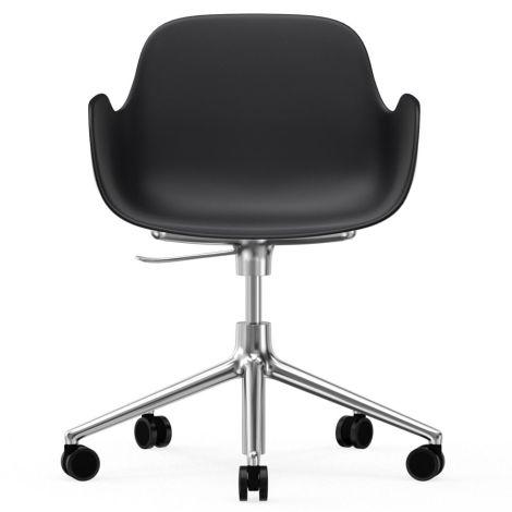 Normann Copenhagen Form Bürostuhl/Drehstuhl mit Rollen Swivel Black/Aluminium