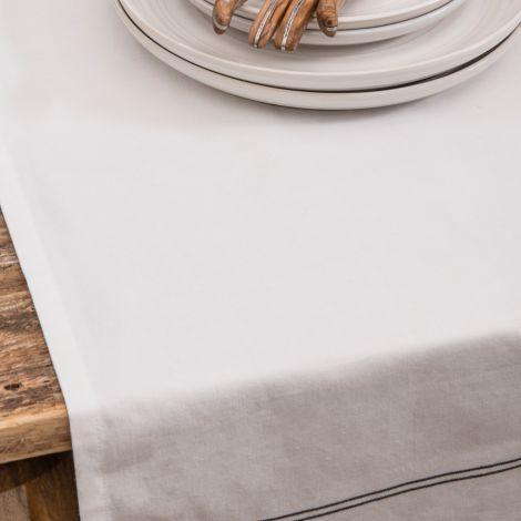 IB LAURSEN Tischdecke Schwarze Streifen •