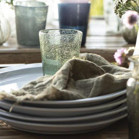 IB LAURSEN Stoffserviette Doppelt Gewebt Olive •