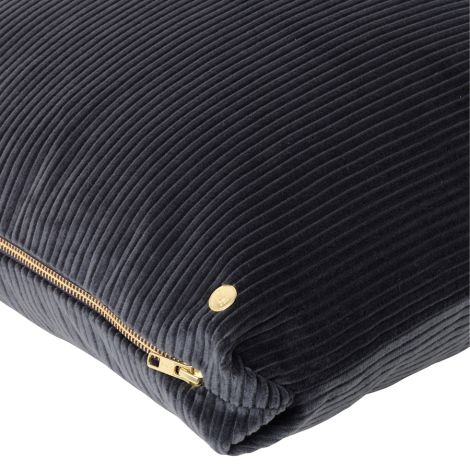 ferm LIVING Kissen Corduroy Dark Grey 45 x 45 cm
