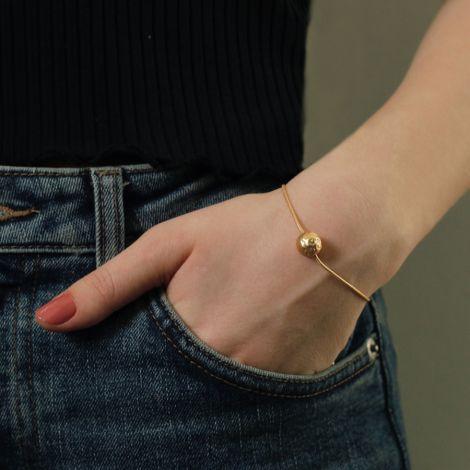 Dansk Smykkekunst Armband Daisy Flower Bud Hämatitüberzug