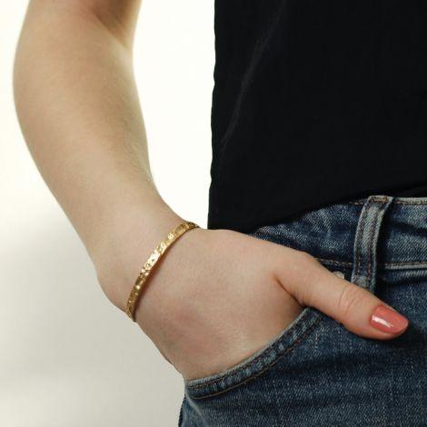 Dansk Smykkekunst Armband Amber Slim Hämatitüberzug •