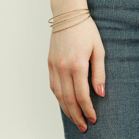 Dansk Smykkekunst Armband Alyssa Hämatitüberzug •