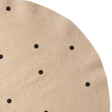 ferm LIVING Teppich Jute Black Dots
