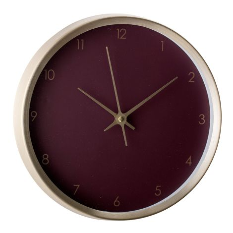 Bloomingville Wanduhr Gold/Bordeaux