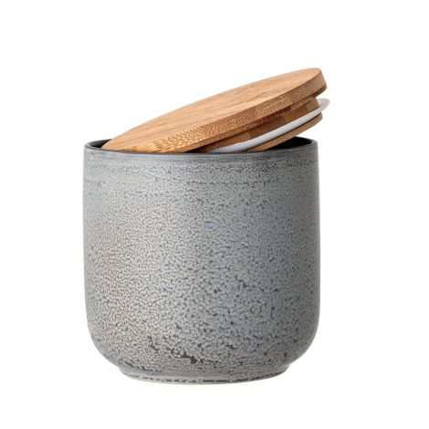 Bloomingville Aufbewahrungsgefäß mit Deckel Kendra Grey 13 cm