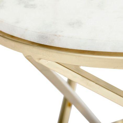Bloomingville Beistelltisch Nuevo White Marmor •