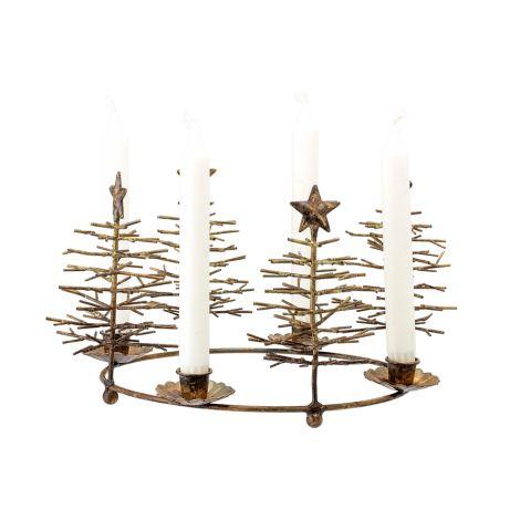 Bloomingville Kerzenhalter Advent Holiday Bronze-Optik