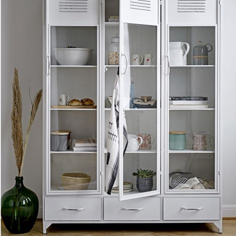 Bloomingville Schrank White Metal