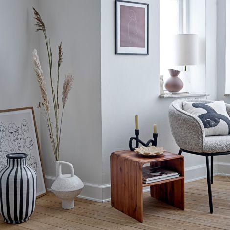 Bloomingville Vase Schila White Terracotta