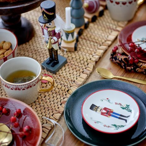 Bloomingville Teller Jolly Red 4er-Set