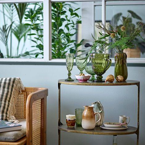 Bloomingville Sektglas Florie Green 4er-Set