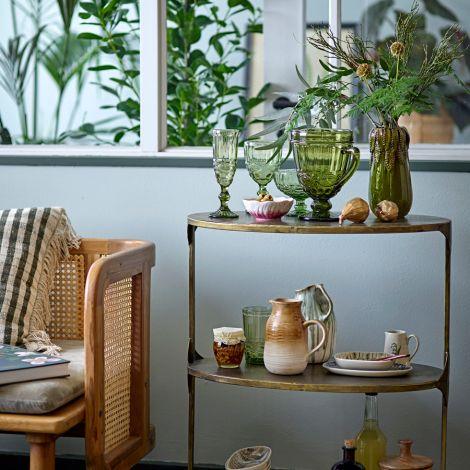 Bloomingville Weinglas Florie Green 4er-Set