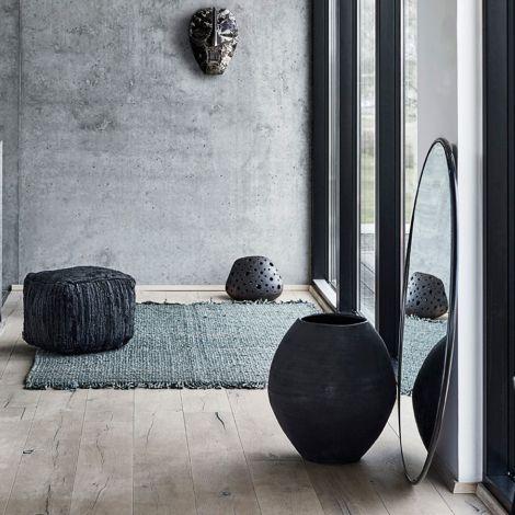 MUUBS Spiegel rund Copenhagen L 110 cm Iron