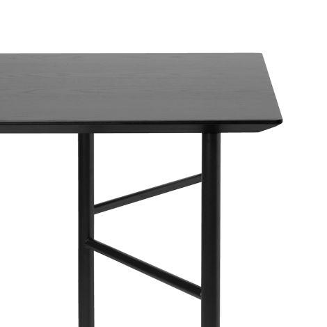 ferm LIVING Tischplatte Mingle Black Veneer - In verschiedenen Größen 135 cm Länge x 65 cm Breite