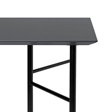ferm LIVING Tischplatte Mingle Charcoal - In verschiedenen Größen 135 cm Länge x 65 cm Breite