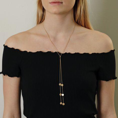 Dansk Smykkekunst Kette Vanity Double Pendant Versilbert •
