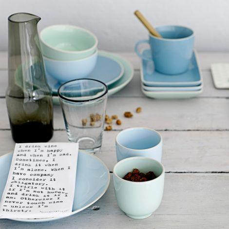 Bloomingville Tasse mit Henkel Olivia Winter Blue