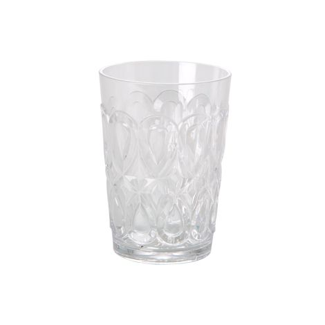 Rice Acryl Wasserglas Swirly Klarglas