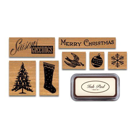 Cavallini Stempelset Holiday Weihnachten •