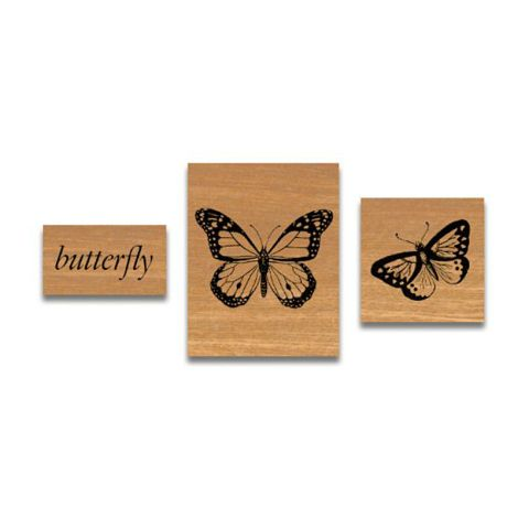 Cavallini kleines Stempelset Butterflies •