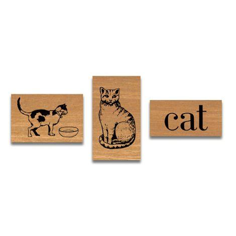 Cavallini kleines Stempelset Cat •
