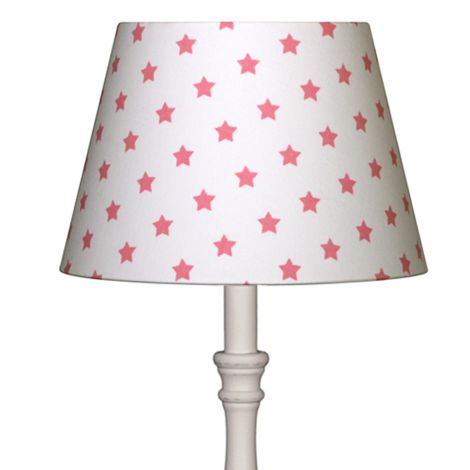 Lampenschirm Sterne Pink auf Weiß