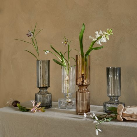 Broste Copenhagen Vase Hyacint mundgeblasen Clear 28,3 cm