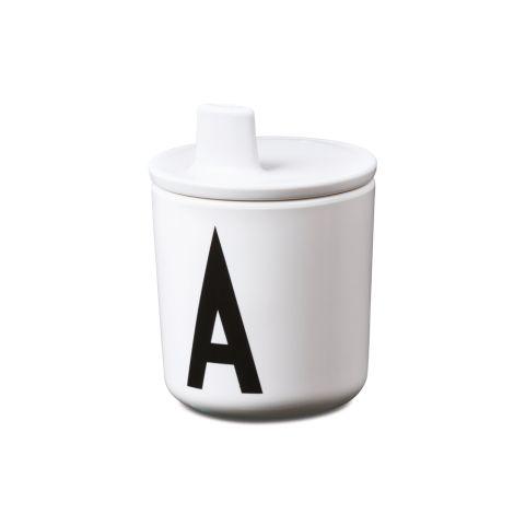 Design Letters Trinkaufsatz für Melamin Becher White
