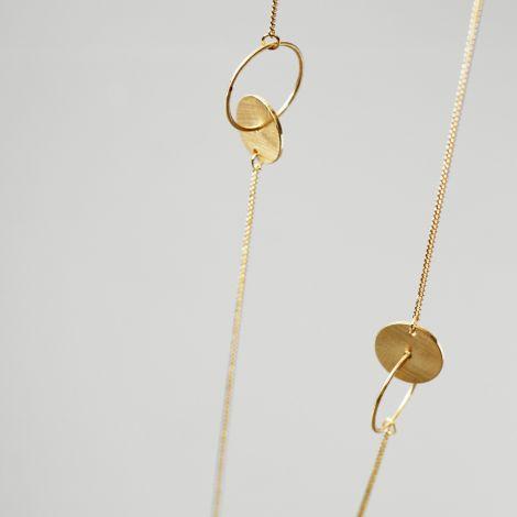 Dansk Smykkekunst Kette Aida Chain Vergoldet •