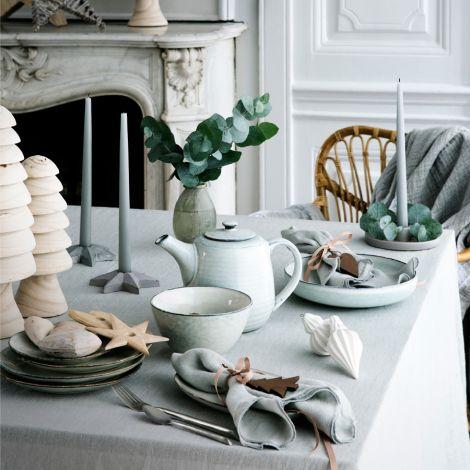 Broste Copenhagen Geschirr-Set Dinner Nordic Sand 12-teilig