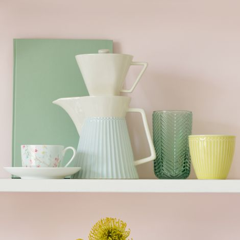 GreenGate Kaffeekanne mit Filter Alice Pale Blue
