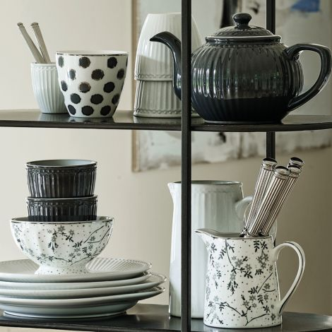 GreenGate Latte Cup Becher Savannah White