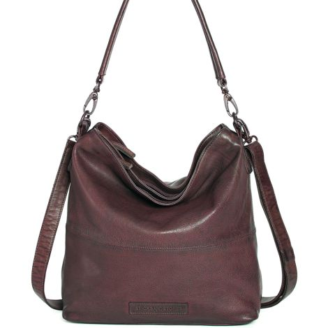 Sticks and Stones Ledertasche Amsterdam Burgundy