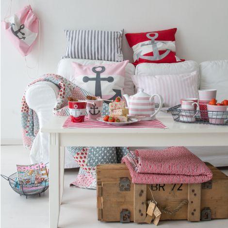 Krasilnikoff Beutel Anker Pink •